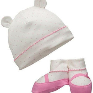Children's Place Hat & Bootie Set - Size 0-6M NWT